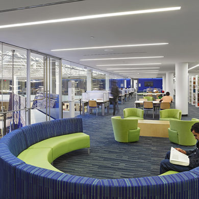 College Interior Design. City University Of New York, Medgar Evers College  Library \u0026