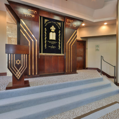 Religious Facility, Synagogue Interior Design NJ, NY